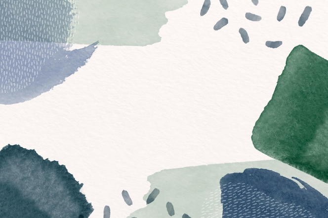 Fundo abstrato com formas em aquarela e espaço vazio