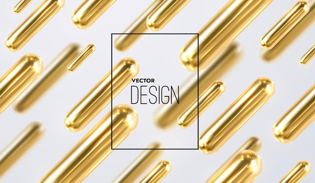 Fundo abstrato com formas geométricas douradas