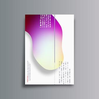 Fundo abstrato com formas gradientes