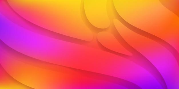 Fundo abstrato com formas suaves e onduladas nas cores laranja e roxa