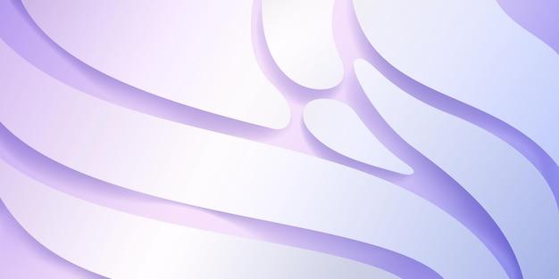 Fundo abstrato com formas suaves onduladas em cores brancas
