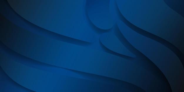 Fundo abstrato com formas suaves onduladas em tons de azul escuro