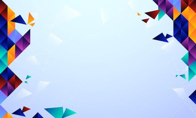 Fundo abstrato com formas