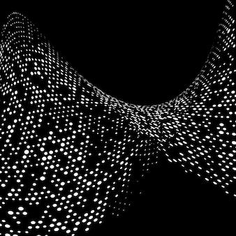 Fundo abstrato com fundo de pontos de meio-tom