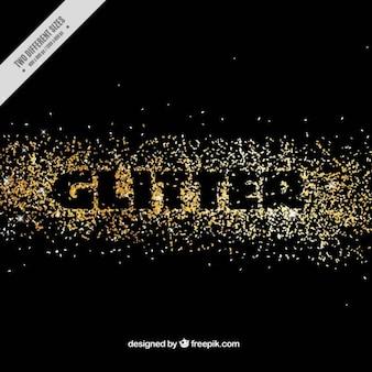 Fundo abstrato com glitter dourado