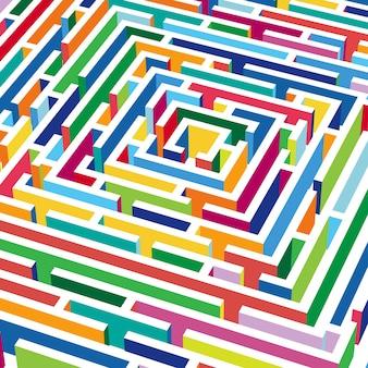 Fundo abstrato com labirinto 3d