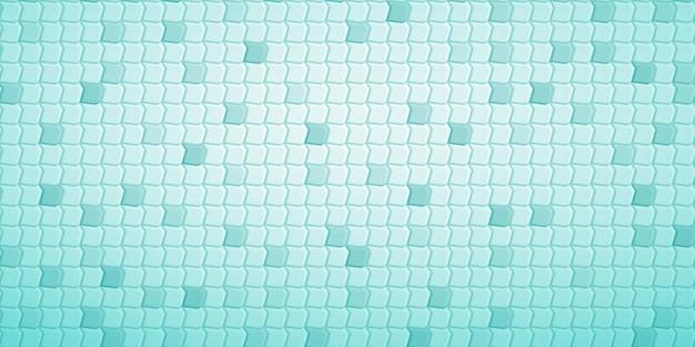 Fundo abstrato com ladrilhos de polígonos encaixados uns nos outros, em cores turquesa