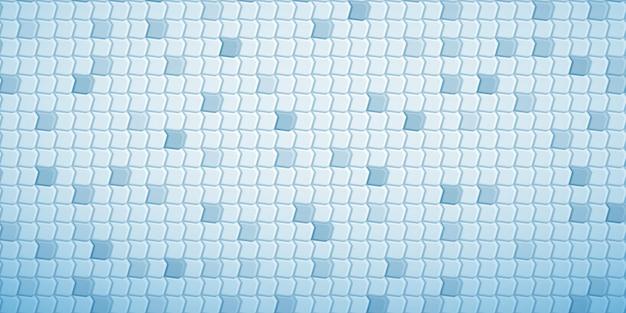 Fundo abstrato com ladrilhos de polígonos encaixados uns nos outros, em tons de azul claro
