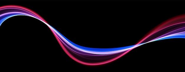 Fundo abstrato com linhas azuis e vermelhas fluxo dinâmico onda estrutura de dados digitais