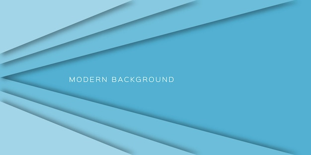 Fundo abstrato com linhas de corte de papel claro azul