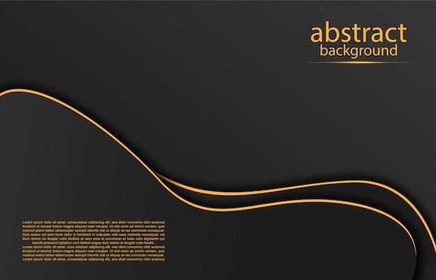 Fundo abstrato com linhas douradas