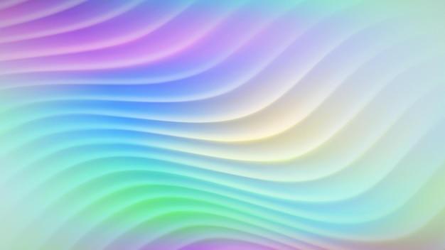 Fundo abstrato com linhas onduladas em várias cores gradientes