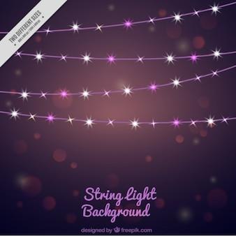 Fundo abstrato com luzes cadeia brilhantes