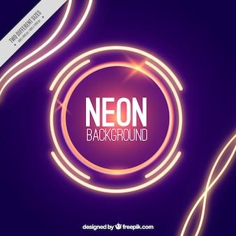 Fundo abstrato com luzes de néon
