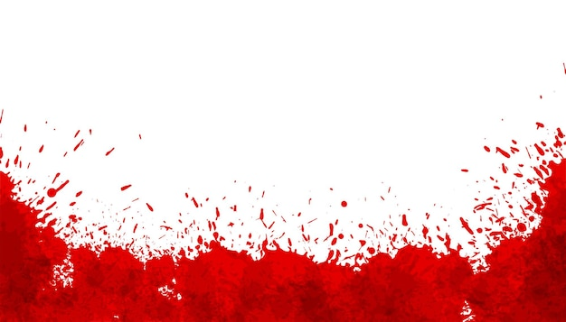 Fundo abstrato com manchas vermelhas de respingos de sangue