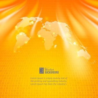 Fundo abstrato com mapa mundial