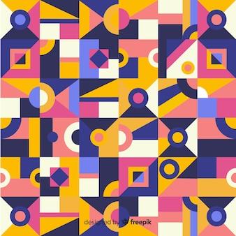 Fundo abstrato com mosaico geométrico colorido
