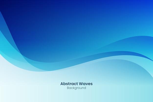 Fundo abstrato com ondas azuis