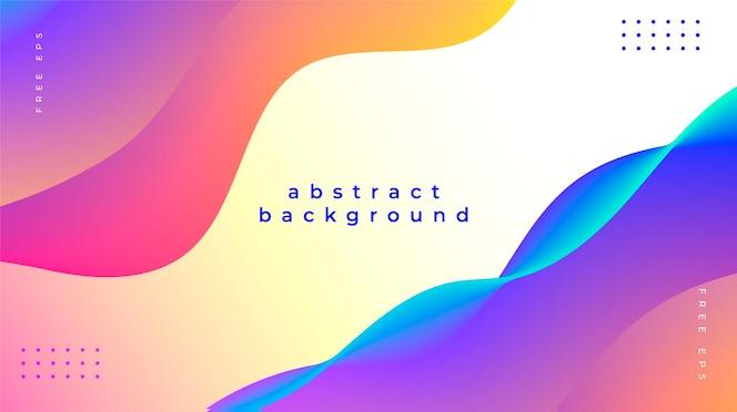 Fundo abstrato com ondas coloridas e fluidas