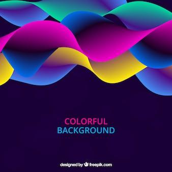 Fundo abstrato com ondas coloridas
