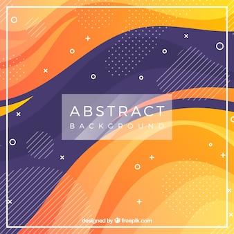 Fundo abstrato com ondas e cores