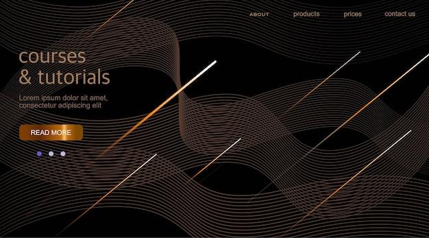 Fundo abstrato com ondas, padrão linear.