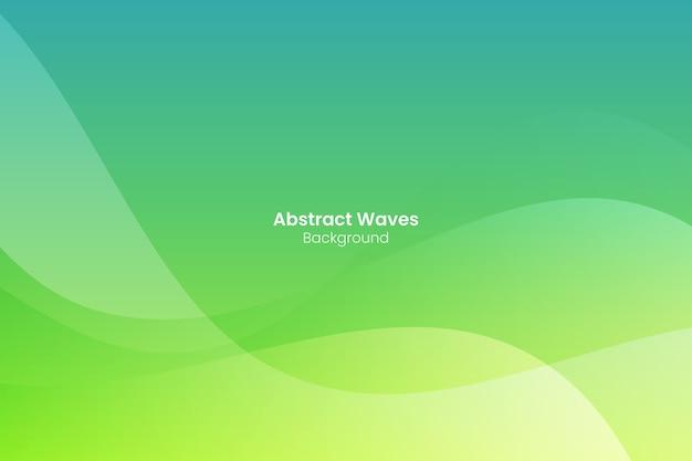 Fundo abstrato com ondas verdes