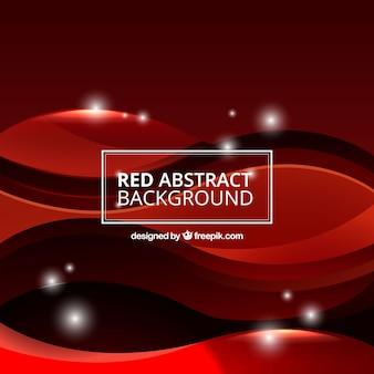 Fundo abstrato com ondas vermelhas