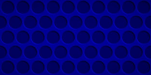 Fundo abstrato com orifícios circulares em cores azuis