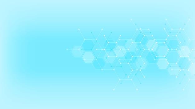 Fundo abstrato com padrão de hexágonos.