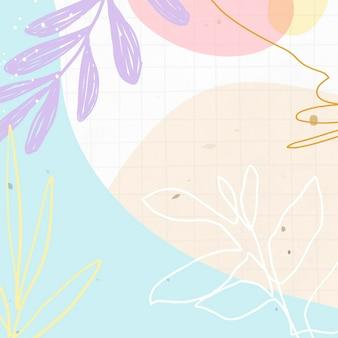 Fundo abstrato com padrão pastel de memphis