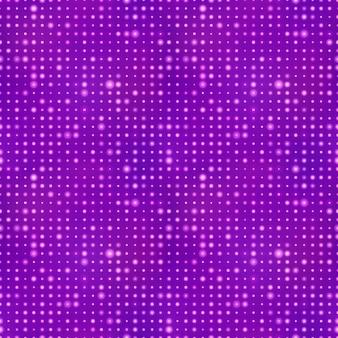 Fundo abstrato com pontos de luz no padrão roxo, sem costura