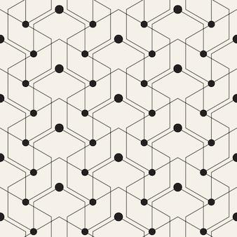 Fundo abstrato com pontos e linhas