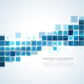 Fundo abstrato com quadrados azuis