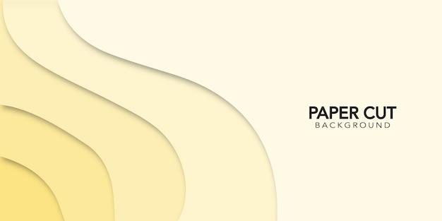 Fundo abstrato com recorte de papel amarelo