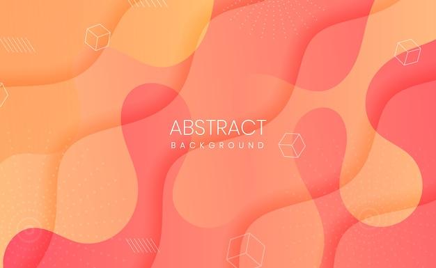 Fundo abstrato com recorte em papel gradiente laranja e amarelo