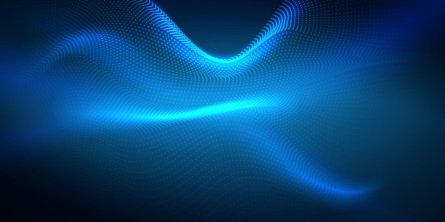 Fundo abstrato com rede dinâmica de névoa de partículas