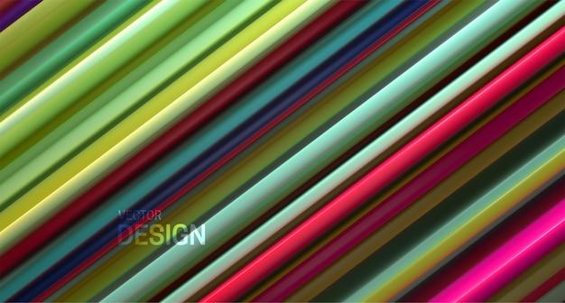 Fundo abstrato com superfície em camadas multicoloridas