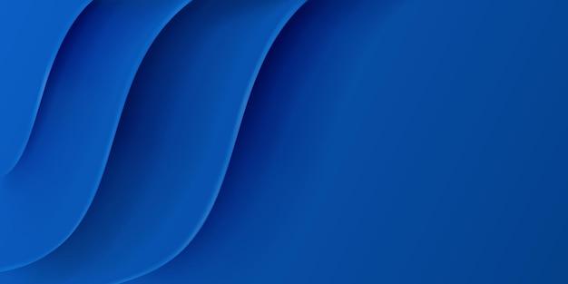 Fundo abstrato com superfície ondulada em cores azuis
