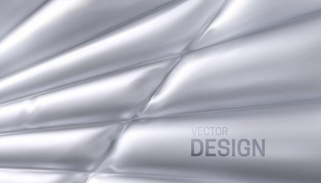 Fundo abstrato com tecido branco costurado e inflado
