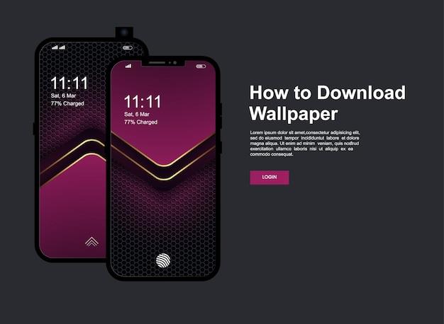 Fundo abstrato com tela do celular