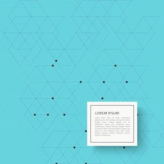 Fundo abstrato com teste padrão e pontos do hexágono.