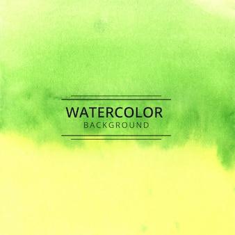 Fundo abstrato com textura aquarela verde e amarela