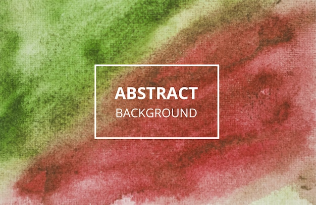 Fundo abstrato com textura aquarela vermelha e verde