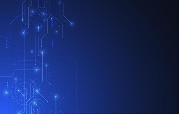 Fundo abstrato com textura de placa de circuito de tecnologia. ilustração de placa-mãe eletrônica. conceito de comunicação e engenharia.