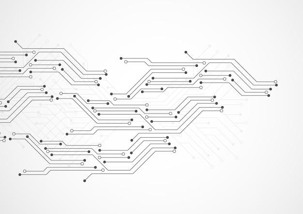 Fundo abstrato com textura de placa de circuito de tecnologia