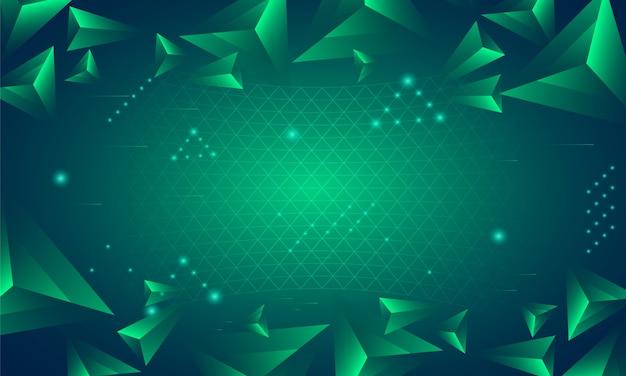 Fundo abstrato com triângulos 3d