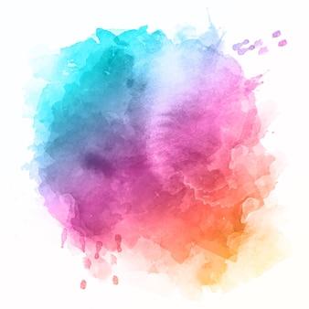 Fundo abstrato com um desenho colorido de respingos de aquarela