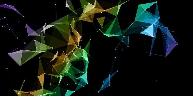 Fundo abstrato com um design colorido de comunicação de rede