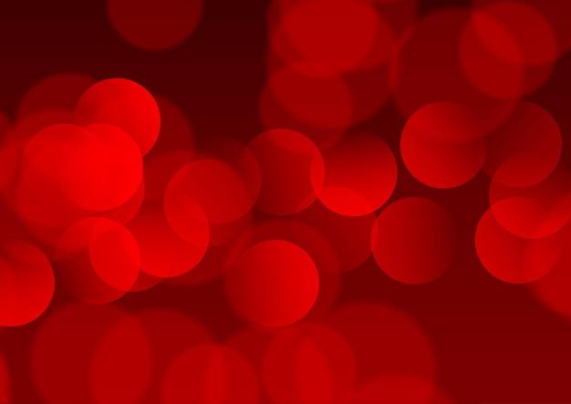 Fundo abstrato com um design de luzes vermelhas bokeh